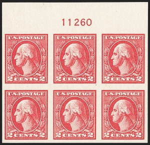 Sale Number 1227, Lot Number 3503, 1918-20 Offset Printing Issues (Scott 525-536)2c Carmine, Ty. V, Imperforate (533), 2c Carmine, Ty. V, Imperforate (533)
