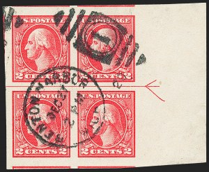 Sale Number 1227, Lot Number 3504, 1918-20 Offset Printing Issues (Scott 525-536)2c Carmine, Ty. V, Imperforate (533), 2c Carmine, Ty. V, Imperforate (533)