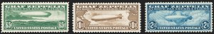 Sale Number 1227, Lot Number 3591, Air Post65c-$2.60 Graf Zeppelin (C13-C15), 65c-$2.60 Graf Zeppelin (C13-C15)