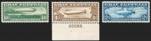 Sale Number 1227, Lot Number 3592, Air Post65c-$2.60 Graf Zeppelin (C13-C15), 65c-$2.60 Graf Zeppelin (C13-C15)