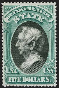 Sale Number 1227, Lot Number 3710, Officials$5.00 State (O69), $5.00 State (O69)