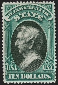 Sale Number 1227, Lot Number 3711, Officials$10.00 State (O70), $10.00 State (O70)