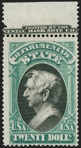 Sale Number 1227, Lot Number 3713, Officials$20.00 State (O71), $20.00 State (O71)