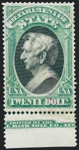 Sale Number 1227, Lot Number 3714, Officials$20.00 State (O71), $20.00 State (O71)