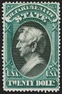 Sale Number 1227, Lot Number 3715, Officials$20.00 State (O71), $20.00 State (O71)