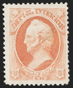 Sale Number 1227, Lot Number 3724, Officials24c Interior, Soft Paper (O103), 24c Interior, Soft Paper (O103)