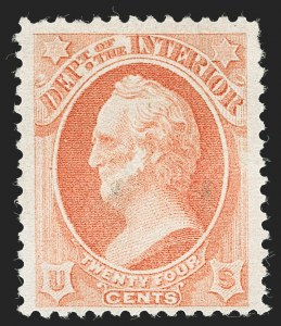 Sale Number 1227, Lot Number 3725, Officials24c Interior, Soft Paper (O103), 24c Interior, Soft Paper (O103)