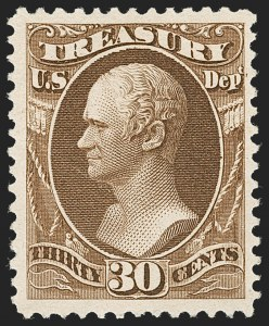 Sale Number 1227, Lot Number 3726, Officials30c Treasury, Soft Paper (O112), 30c Treasury, Soft Paper (O112)