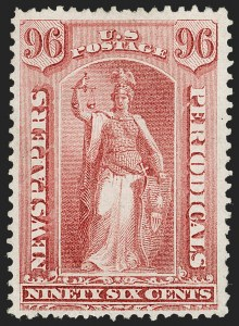 Sale Number 1227, Lot Number 3738, Newspapers and Periodicals (PR4-PR47)96c Rose, 1875 Issue (PR23), 96c Rose, 1875 Issue (PR23)