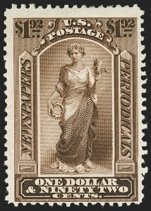 Sale Number 1227, Lot Number 3739, Newspapers and Periodicals (PR4-PR47)$1.92 Dark Brown, 1875 Issue (PR24), $1.92 Dark Brown, 1875 Issue (PR24)