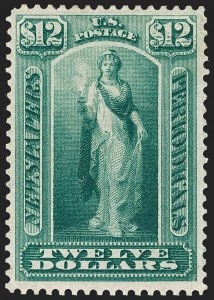 Sale Number 1227, Lot Number 3746, Newspapers and Periodicals (PR4-PR47)$12.00 Blue Green, 1875 Issue (PR28), $12.00 Blue Green, 1875 Issue (PR28)