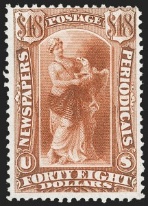 Sale Number 1227, Lot Number 3751, Newspapers and Periodicals (PR4-PR47)$48.00 Red Brown, 1875 Issue (PR31), $48.00 Red Brown, 1875 Issue (PR31)