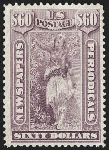Sale Number 1227, Lot Number 3753, Newspapers and Periodicals (PR4-PR47)$60.00 Violet, 1875 Issue (PR32), $60.00 Violet, 1875 Issue (PR32)