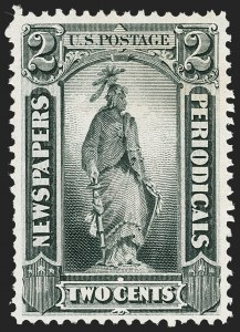 Sale Number 1227, Lot Number 3754, Newspapers and Periodicals (PR4-PR47)2c Gray Black, 1875 Special Printing (PR33), 2c Gray Black, 1875 Special Printing (PR33)