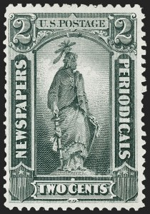 Sale Number 1227, Lot Number 3755, Newspapers and Periodicals (PR4-PR47)2c Gray Black, 1875 Special Printing (PR33), 2c Gray Black, 1875 Special Printing (PR33)