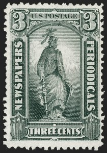 Sale Number 1227, Lot Number 3756, Newspapers and Periodicals (PR4-PR47)3c Gray Black, 1875 Special Printing (PR34), 3c Gray Black, 1875 Special Printing (PR34)