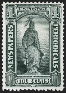 Sale Number 1227, Lot Number 3757, Newspapers and Periodicals (PR4-PR47)4c Gray Black, 1875 Special Printing (PR35), 4c Gray Black, 1875 Special Printing (PR35)