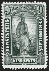 Sale Number 1227, Lot Number 3759, Newspapers and Periodicals (PR4-PR47)9c Gray Black, 1875 Special Printing (PR38), 9c Gray Black, 1875 Special Printing (PR38)