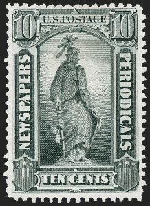 Sale Number 1227, Lot Number 3761, Newspapers and Periodicals (PR4-PR47)10c Gray Black, 1875 Special Printing (PR39), 10c Gray Black, 1875 Special Printing (PR39)