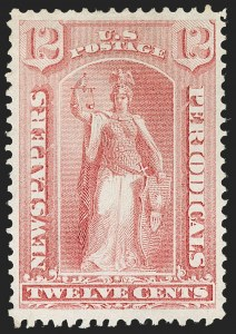 Sale Number 1227, Lot Number 3763, Newspapers and Periodicals (PR4-PR47)12c Pale Rose, 1875 Special Printing (PR40), 12c Pale Rose, 1875 Special Printing (PR40)