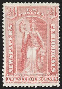 Sale Number 1227, Lot Number 3766, Newspapers and Periodicals (PR4-PR47)24c Pale Rose, 1875 Special Printing (PR41), 24c Pale Rose, 1875 Special Printing (PR41)