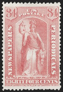 Sale Number 1227, Lot Number 3772, Newspapers and Periodicals (PR4-PR47)84c Pale Rose, 1875 Special Printing (PR46), 84c Pale Rose, 1875 Special Printing (PR46)
