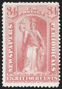 Sale Number 1227, Lot Number 3773, Newspapers and Periodicals (PR4-PR47)84c Pale Rose, 1875 Special Printing (PR46), 84c Pale Rose, 1875 Special Printing (PR46)
