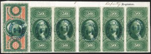 Sale Number 1227, Lot Number 3832, Revenues, First thru Third Issues$200.00 U.S.I.R., Perforated (R102c), $200.00 U.S.I.R., Perforated (R102c)