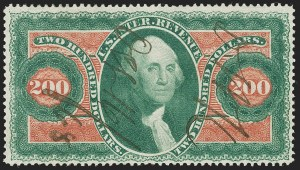 Sale Number 1227, Lot Number 3834, Revenues, First thru Third Issues$200.00 U.S.I.R., Perforated (R102c), $200.00 U.S.I.R., Perforated (R102c)
