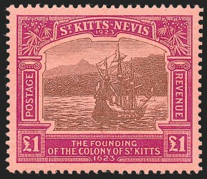 Sale Number 1229, Lot Number 124, St. Kitts-Nevis thru South West AfricaST. KITTS-NEVIS, 1923, -1/2p-£1 Tercentenary (52-64; SG 48-60), ST. KITTS-NEVIS, 1923, -1/2p-£1 Tercentenary (52-64; SG 48-60)