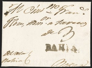 Sale Number 1230, Lot Number 1038, The Sandford N. Arnold Collection of Early Texas Postal HistoryBAHIA, BAHIA