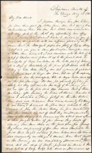 "Sale Number 1230, Lot Number 1044, The Sandford N. Arnold Collection of Early Texas Postal HistoryA remarkable letter written during the Texas War of Independence, describing the siege of the Alamo, the Goliad Massacre, the ""Runaway Scrape,"" the Battle of San Jacinto, and the capture and imprisonment of Santa Anna, A remarkable letter written during the Texas War of Independence, describing the siege of the Alamo, the Goliad Massacre, the ""Runaway Scrape,"" the Battle of San Jacinto, and the capture and imprisonment of Santa Anna"