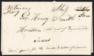 Sale Number 1230, Lot Number 1049, The Sandford N. Arnold Collection of Early Texas Postal History,