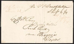Sale Number 1230, Lot Number 1050, The Sandford N. Arnold Collection of Early Texas Postal History,