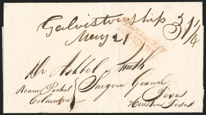 Sale Number 1230, Lot Number 1051, The Sandford N. Arnold Collection of Early Texas Postal History,