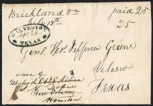 Sale Number 1230, Lot Number 1052, The Sandford N. Arnold Collection of Early Texas Postal HistoryGALVESTON * TEXAS *, GALVESTON * TEXAS *