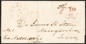 Sale Number 1230, Lot Number 1062, The Sandford N. Arnold Collection of Early Texas Postal HistoryGALVESTON TEXAS JAN. ? (1846), GALVESTON TEXAS JAN. ? (1846)