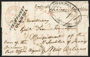 Sale Number 1230, Lot Number 1065, The Sandford N. Arnold Collection of Early Texas Postal History,