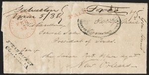 Sale Number 1230, Lot Number 1066, The Sandford N. Arnold Collection of Early Texas Postal History,