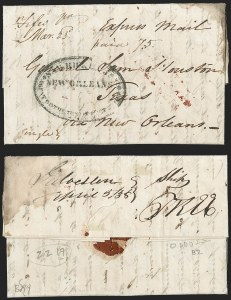 Sale Number 1230, Lot Number 1068, The Sandford N. Arnold Collection of Early Texas Postal History,