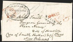 Sale Number 1230, Lot Number 1070, The Sandford N. Arnold Collection of Early Texas Postal HistoryHartford Ct. Jun. 27 (1838), Hartford Ct. Jun. 27 (1838)