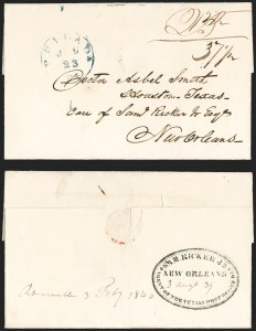 Sale Number 1230, Lot Number 1072, The Sandford N. Arnold Collection of Early Texas Postal HistoryPhilada. Pa. Jul. 23 (1839), Philada. Pa. Jul. 23 (1839)