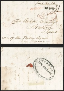 Sale Number 1230, Lot Number 1080, The Sandford N. Arnold Collection of Early Texas Postal HistoryHartford Ct. May 4 (ca. 1840), Hartford Ct. May 4 (ca. 1840)