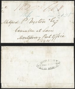 Sale Number 1230, Lot Number 1089, The Sandford N. Arnold Collection of Early Texas Postal HistoryFORWARDED BY WILLIAM BRYAN NEW=ORLEANS, FORWARDED BY WILLIAM BRYAN NEW=ORLEANS