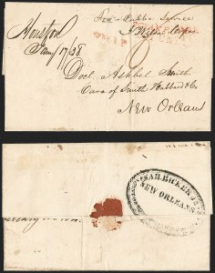 Sale Number 1230, Lot Number 1092, The Sandford N. Arnold Collection of Early Texas Postal History,