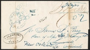 Sale Number 1230, Lot Number 1096, The Sandford N. Arnold Collection of Early Texas Postal History,