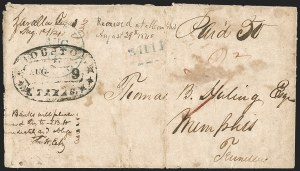 Sale Number 1230, Lot Number 1097, The Sandford N. Arnold Collection of Early Texas Postal History,