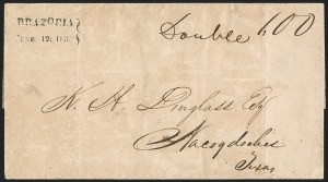 Sale Number 1230, Lot Number 1102, The Sandford N. Arnold Collection of Early Texas Postal HistoryBRAZORIA/JUNE 12; 1839, BRAZORIA/JUNE 12; 1839