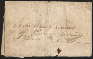 Sale Number 1230, Lot Number 1103, The Sandford N. Arnold Collection of Early Texas Postal History,