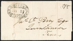 Sale Number 1230, Lot Number 1108, The Sandford N. Arnold Collection of Early Texas Postal HistoryHOUSTON *** TEXAS *** SEP 17 (1840), HOUSTON *** TEXAS *** SEP 17 (1840)